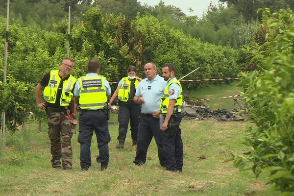 Les gendarmes ont sécurisé le périmètre, avant d'effectuer les premières constatations.