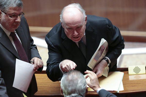 Dominique Bussereau (au centre),  le 20 mars 2013, lors d'une séance de questions d'actualité au gouvernement à l'assemblee nationale.
