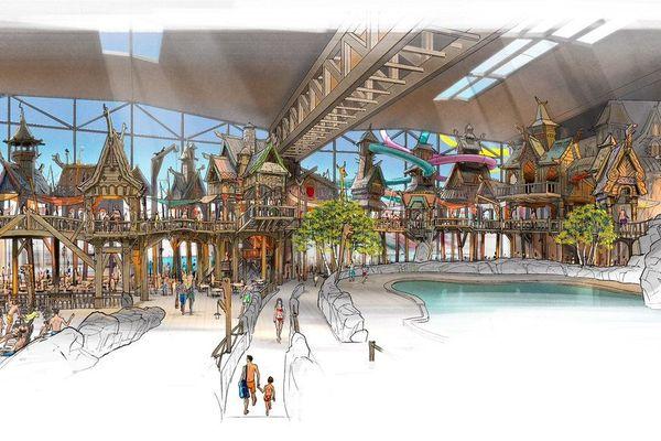 Une nouvelle image conceptuelle du futur parc nautique d'Europa Park a été dévoilée.