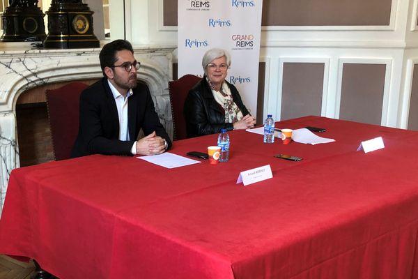 À Reims, Arnaud Robinet et Catherine Vautherin ont détaillé les mesures prises suite à l'épidémie de covid-19.