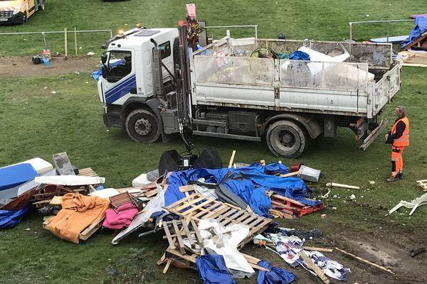 Le camp de la rue Henri-Paris à Reims a été démantelé ce mercredi 30 octobre