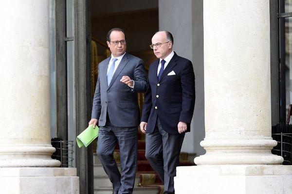Le ministre de l'intérieur et François Hollande le 3 septembre à l'Elysée.