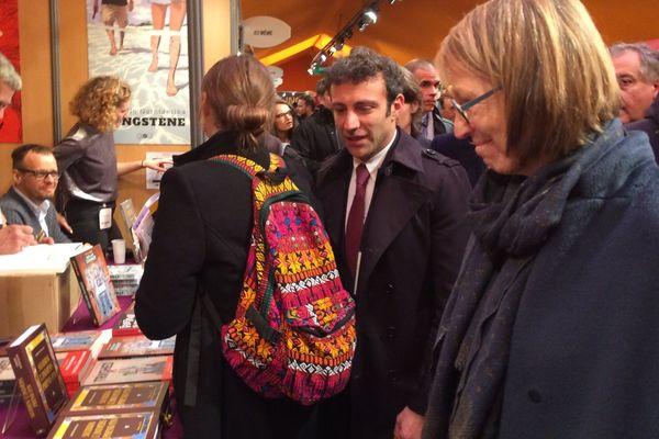 Françoise Nyssen, ministre de la Culture, jeudi 25 janvier, au festival international de la bande dessinée d'Angoulême.