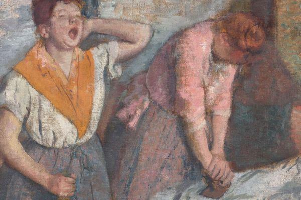 """Le célèbre tableau des """"Repasseuses"""" d'Edgar Degas sera exposé au Musée des Beaux Arts de Caen, dans le cadre du thème """"Les villes ardentes"""" consacré au travail, aux industries, aux usines du 19ème siècle."""