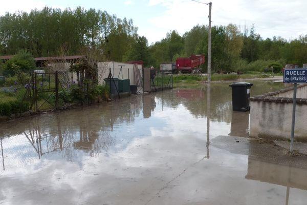 La crue à Méry-sur-Seine, le 11 mai 2013
