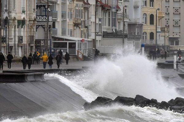 La tempête Ciara à Wimereux dimanche dernier