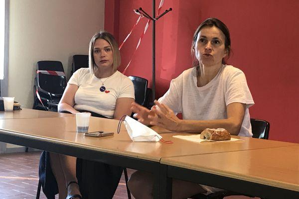 Aurélie Filippetti a débattu pendant une heure avec des représentants syndicaux CFDT et UNSA d'ArcelorMittal Florange.