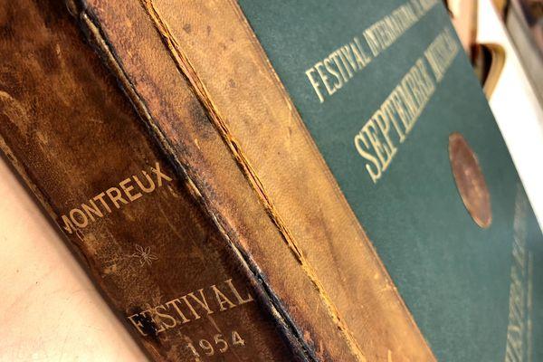 Programme du festival de Montreux 1954.