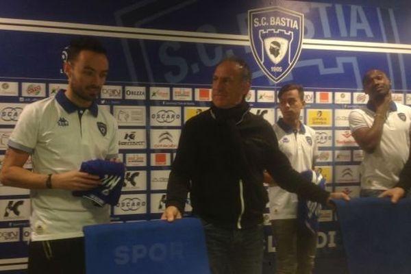 De gauche à droite, Gaël Danic, Ghislain Printant, Lyes Houri et Giovanni Sio.
