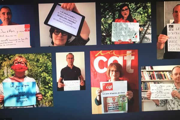capture du clip de la CGT pour un 1er mai confiné