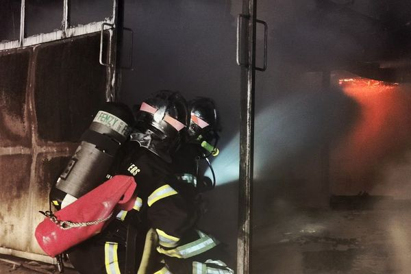 Incendie d'un hangar à Kruth le mardi 6 août vers 23h