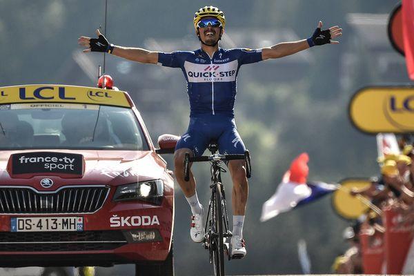 Le Français vainqueur de l'étape du Tour de France, Julian Alaphilippe, est originaire de Montluçon.