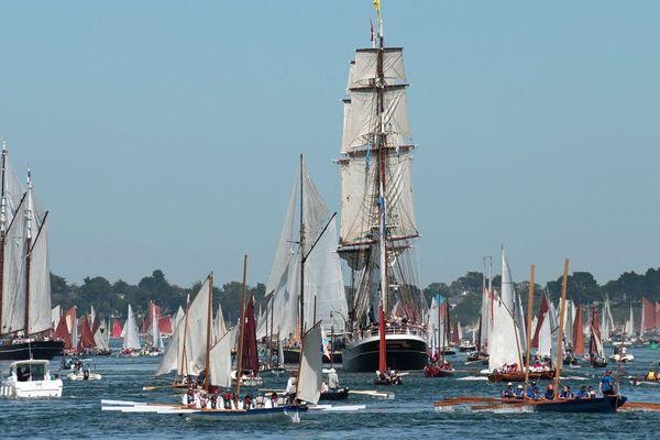 A  la Grande Parade dans le golfe du Morbihan. Le Morgenster