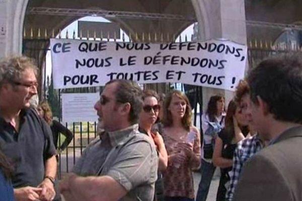 Manifestation des intermittents à Orléans en juin 2014