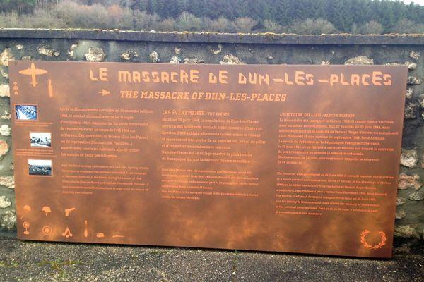 Dun-les-Places est un des villages martyrs de la Libération. En juin 1944, les Allemands ont massacré 27 personnes dans le village avant de quitter le Morvan.