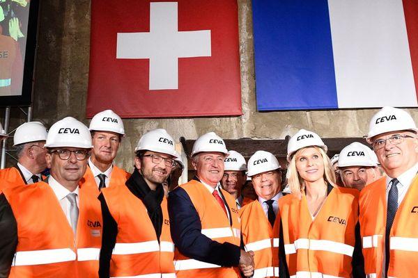 """Ouverture du tunnel """"Cornavin-Eaux-Vives-Annemasse"""" (CEVA) reliant le secteur Cornavin de Genève à Annemasse en France."""