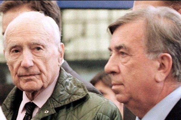 Maurice Papon et son avocat Jean-Marc Varaut