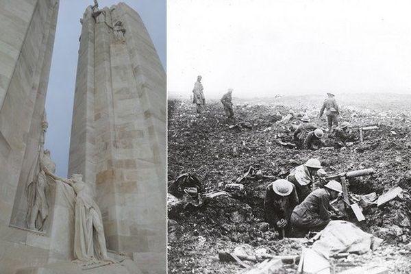 Le Monument canadien de Vimy célèbre la victoire des troupes canadiennes sur la fameuse crête en avril 1917.