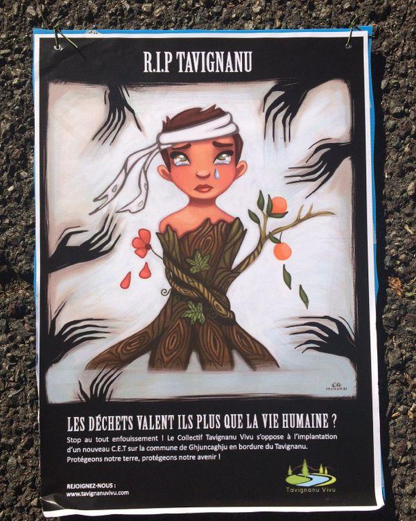 Affiche du collectif Tavignanu Vivu.