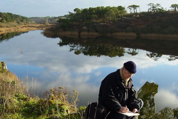 François Bourgeon dans la campagne bretonne