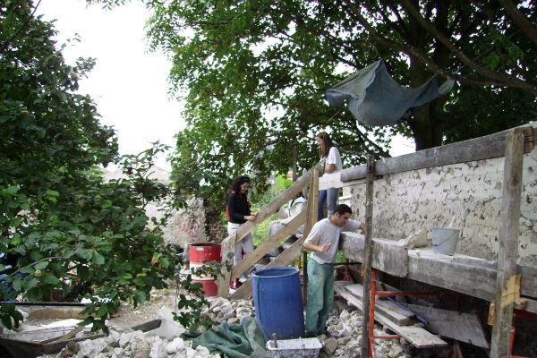 Chantier de restauration des murs