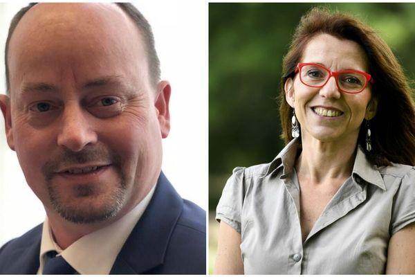 Marc Coatanéa (à g. ) et Annaïg Le Meur (à d.) sont investis par LREM pour Brest et Quimper