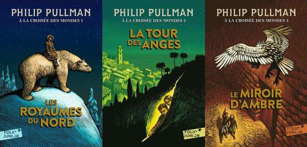 Les 3 couvertures de la Croisée des mondes de Philip Pullman