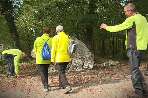 La pierre blanche de la forêt de Grasla