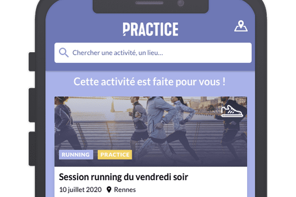 practice application sur tel mobile