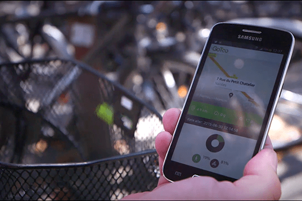 """L'application """"GoToo"""" de Transway récompense vos déplacements écologiques."""