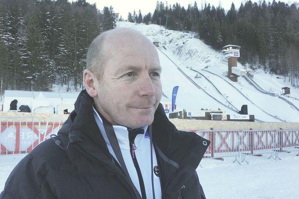 Sylvain Guillaume a décroché la médaille d'argent en combiné nordique aux JO d'Albertville, en  1992