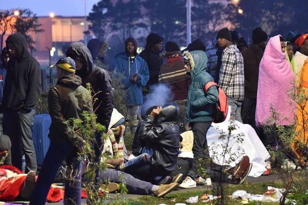 Dans la jungle de Calais en 2016