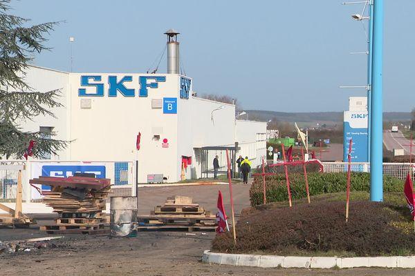 A Avallon, les salariés de l'usine SKF sont en grève illimitée.
