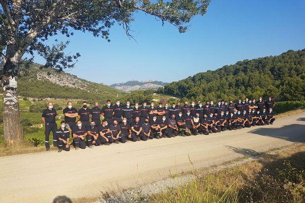 """Les premiers pompiers de la colonne """"Feux de forêts"""" d'Auvergne à être partis prêter main forte à leurs collègues du Sud"""
