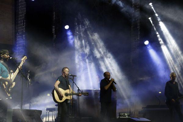 I Muvrini lors d'un concert à Ajaccio le 7 août 2018.