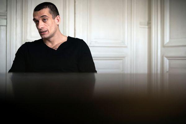 Piotr Pavlensky, à l'occasion d'une interview avec l'AFP le 14 février 2020 (illustration).