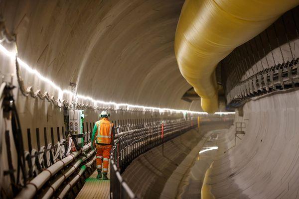 Le chantier du Grand Paris Express en février 2021