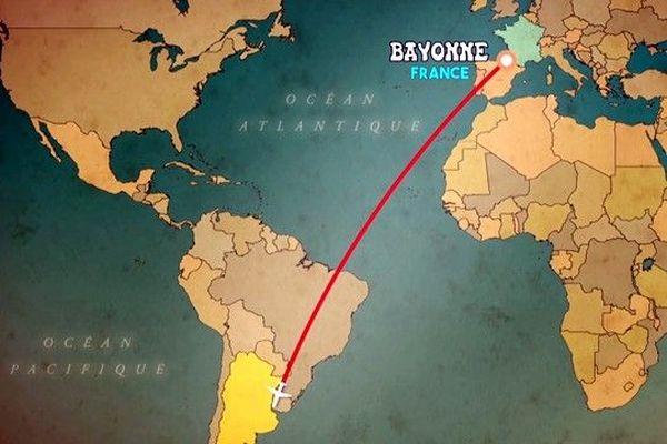 De Bayonne à l'Argentine