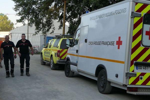 220 pompiers se sont relayés sur les quatre jours du festival aidés par les associations de sécurité civile.