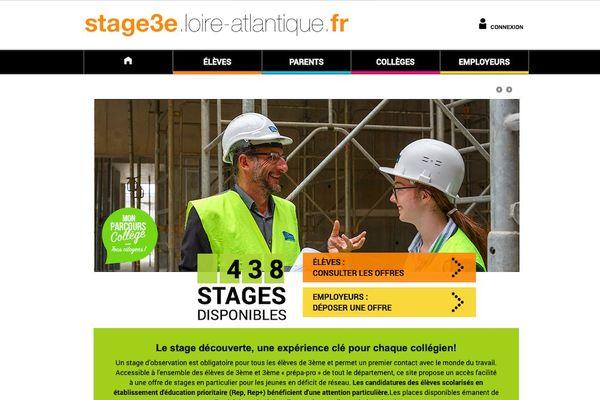 Le site web du Conseil Départemental de la Loire-Atlantique destiné aux élèves de 3ème propose également une version mobile pour smartphone.