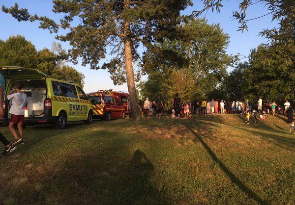Lac des Prés St-Jean : les secours sont restés sur place jusque tard dans la soirée du dimanche 8 juillet