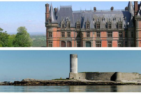 Le château de Trévarez (Finistère) et le Fort Cigogne à Fouesnant (Finistère)