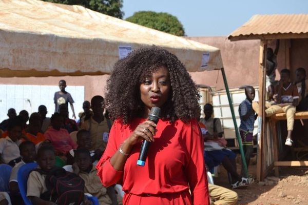 Kakpotia Marie-Claire Moraldo fait régulièrement de la sensibilisation aux mutilations sexuelles en Afrique.