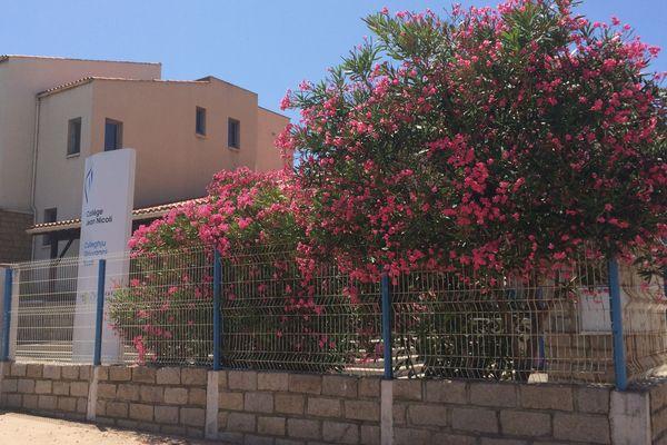Un laurier rose a été infecté par un cas de Xylella fastidiosa au Collège Jean Nicoli de Propriano.
