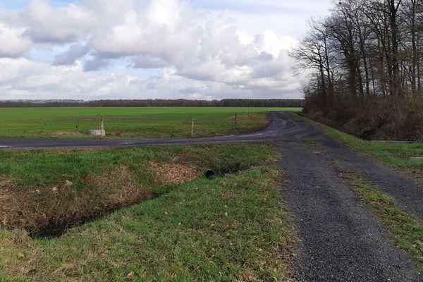 """C'est sur ce terrain de La Ferté-Saint-Cyr, ici le 17 janvier 2020, que doit être aménagé le complexe touristique du """"Chambord Country Club""""."""