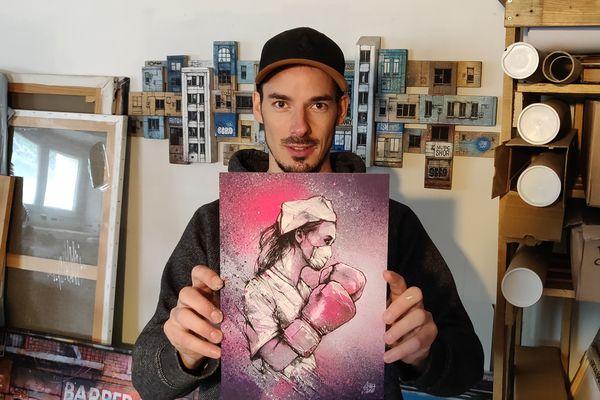 L'artiste savoyard Graffmatt a vendu quatre de ses œuvres au profit du personnel soignant.
