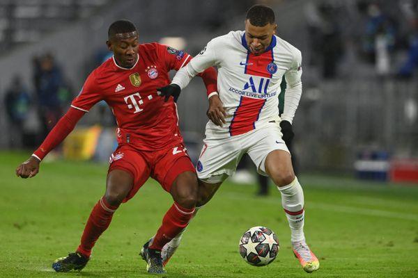 Kylian Mbappé au duel avec David Alaba