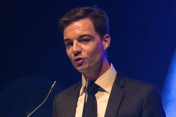Stéphane Sieczkowski-Samier lors de la cérémonie des voeux à Hesdin en janvier 2019.