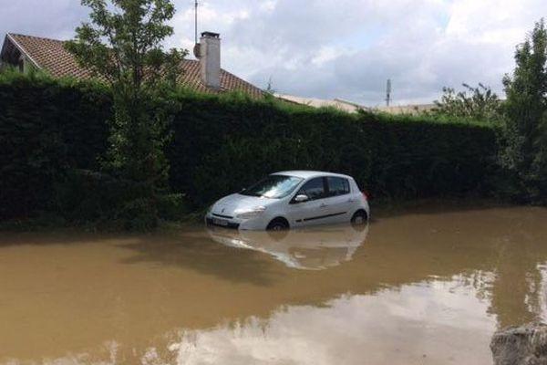 Les inondations dans le quartier Saint-Frédéric à Bayonne