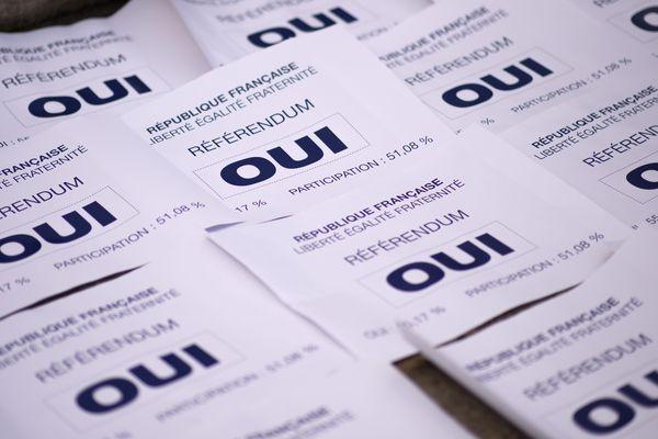 Lors de la consultation sur le projet de l'aéroport de Notre-Dame-des-Landes, la majorité des votants s'est prononcée en faveur du oui.